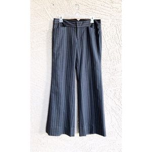CLUB MONACO Wool Pinstripe Wide-Leg Trousers Pants
